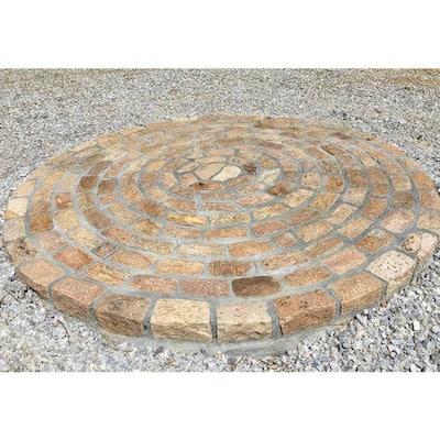 Cobblestone 9 in. x 5 in. x 5 in. Tan Granite Edging (75-Pieces/56 Linear ft./Pallet)