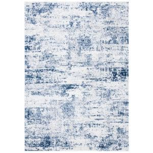 Amelia Ivory/Navy 9 ft. x 12 ft. Abstract Area Rug