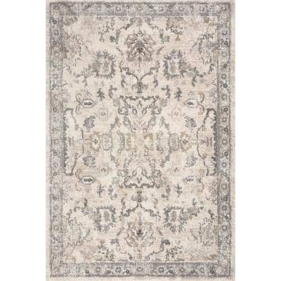 Louisa Ivory 8 ft. x 10 ft. Area Rug