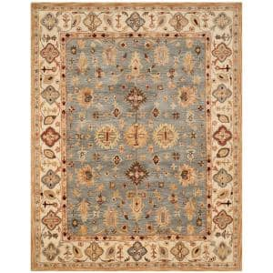 Antiquity Blue/Ivory 10 ft. x 14 ft. Area Rug