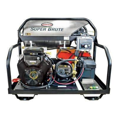 Super Brute 3500 PSI at 5.5 GPM Vanguard V-Twin with Comet Triplex Plunger Pump Hot Water Gas Pressure Washer