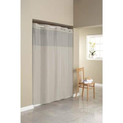 Simply Solid Stone Microfiber Shower Curtain