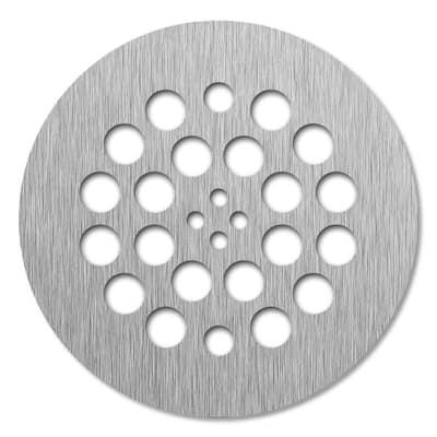 Redi Drain 4.25 in. x 4.25 in. Round Drain Plate in Brushed Nickel