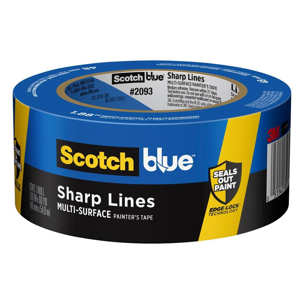 3M ScotchBlue 1.88 in. x 60 yds. Sharp Lines Multi-Surface Painter's Tape with Edge-Lock