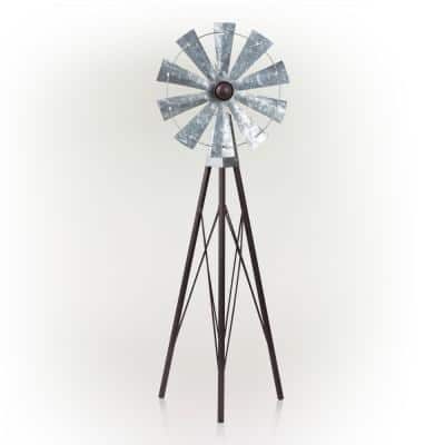 TOMYEER Windmills Garden Polka Dot Colorful for Party Decor Flower with Wooden Handle Pack of 3
