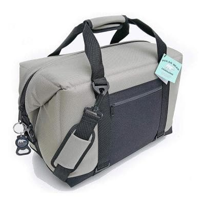 Light Nylon Soft Cooler with Strap, Silver (24-Pack)