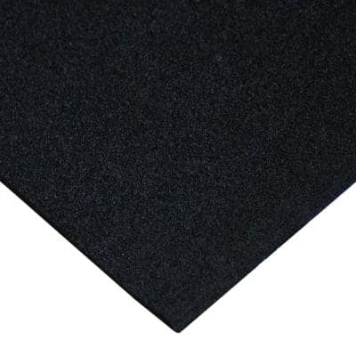 Open Cell Rubber EPDM 3/8 in. Thick x 39 in. Width x 78 in. Length Black Rubber Sheet