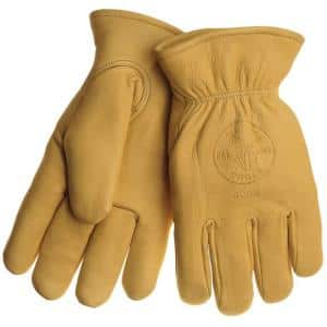 Lined Cowhide Medium Work Gloves