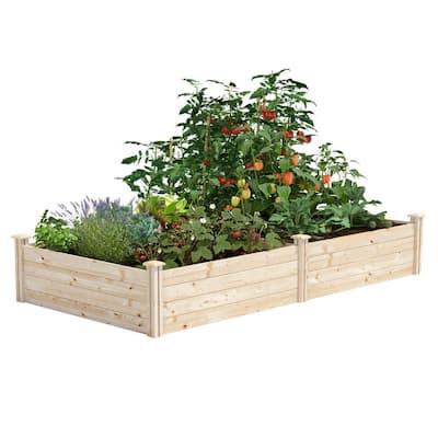 4 ft. x 8 ft. x 14 in. Original Pine Raised Garden Bed