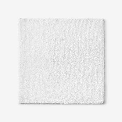Company Cotton Chunky Loop White 24 in. Square Bath Rug