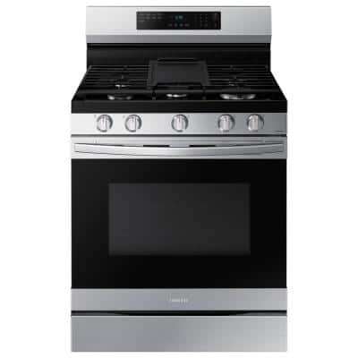 6.0 cu. ft. Smart Freestanding Gas Range with Air Fry and Convection in Stainless Steel