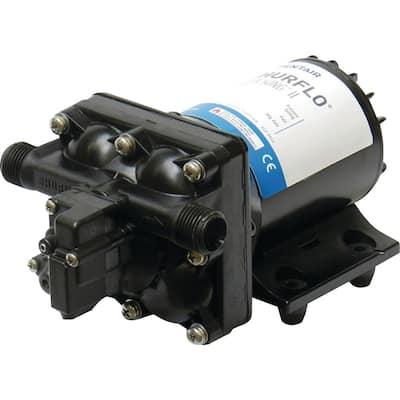 8-1/8 in. x 5 in. x 4-1/8 in. Aqua King II Black 30 PSI 12-Volt 2 GPM 3.5 Amp Automatic Fresh Water Pump
