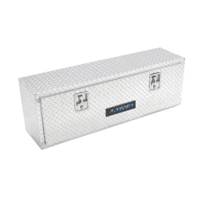 60 in Diamond Plate Aluminum Full Size Top Mount Truck Tool Box with mounting hardware and keys included, Silver