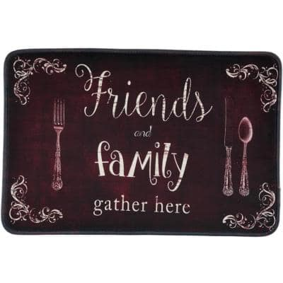 Friends and Family 30 in. x 20 in. Anti-Fatigue Kitchen Mat