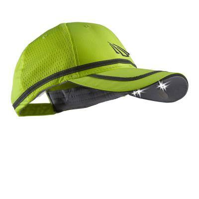 POWERCAP Safety Visibility LED Hat 25/10 Ultra-Bright Hands Free Lighted Battery Powered Headlamp Hi-Vis Yellow