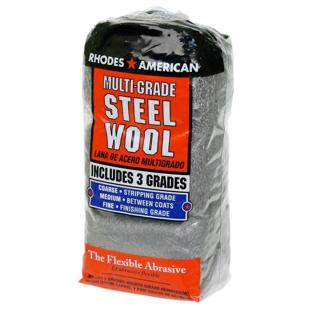 Assorted 12 pad Steel Wool, Coarse, Medium, Fine