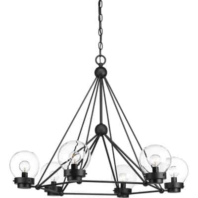 Spatial Collection 6-Light Black Chandelier