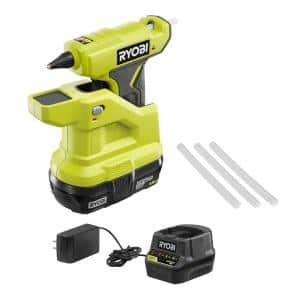 ONE+ 18V Cordless Compact Glue Gun Kit with 1.5 Ah Compact Lithium-Ion Battery and 18V Charger