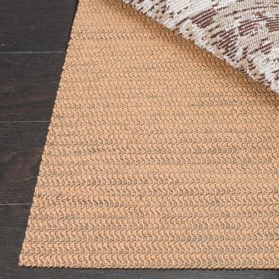Grid Beige 10 ft. x 14 ft. Non-Slip Synthetic Rubber Rug Pad