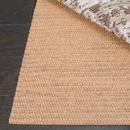 Grid Beige 8 ft. x 11 ft. Non-Slip Synthetic Rubber Rug Pad