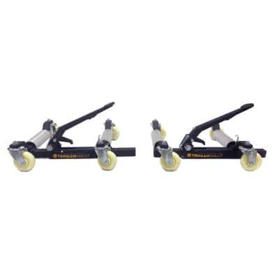 Wheel Dolly Mover Set with Signature Black Wrinkle Powder Coat for Moving Trailers and Autos