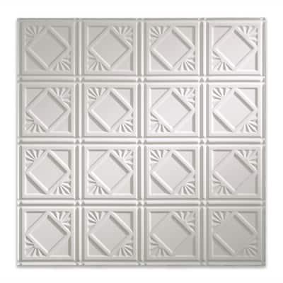 Traditional #4 2 ft. x 2 ft. Gloss White Lay-In Vinyl Ceiling Tile (20 sq. ft.)