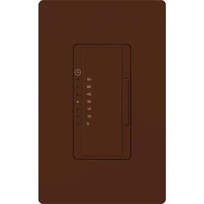 Maestro 5 Amp 600-Watt Light/3 Amp In-Wall Fan Digital Timer - Terracotta