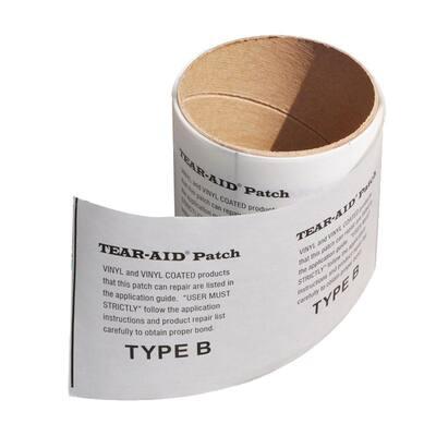 Tear-Aid 3 in. x 36 in. Rectangular Underwater Vinyl Swimming Pool Liner Repair Patch (2-Pack)