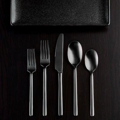 Jayden 20-Piece Black 18/0 Stainless Steel Flatware Set (Service for 4)