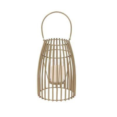Gold Candle Tabletop Lantern