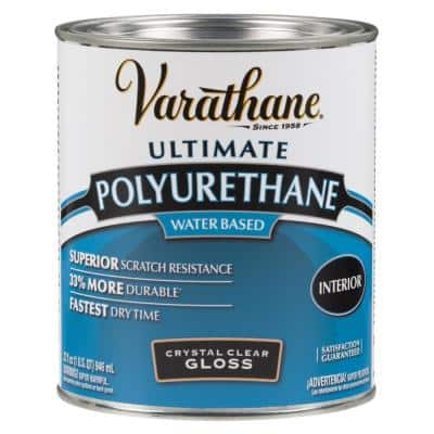 1 qt. Clear Gloss Water-Based Interior Polyurethane (2-Pack)