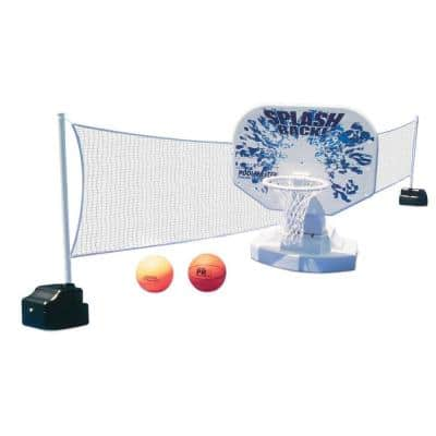 Splashback Swimming Pool Poolside Basketball and Volleyball Game Combo