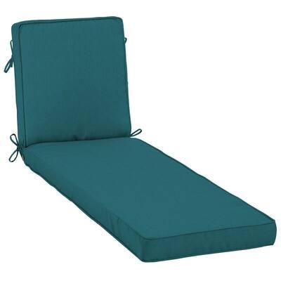 23 x 80 Sunbrella Spectrum Peacock Outdoor Chaise Lounge Cushion
