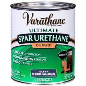 1-qt.Clear Semi-Gloss 275 VOC Oil-Based Exterior Spar Urethane (2 Pack)