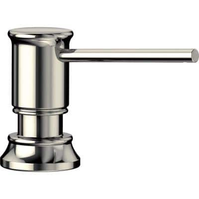 Empressa Deck-Mounted Soap and Lotion Dispenser in Polished Nickel