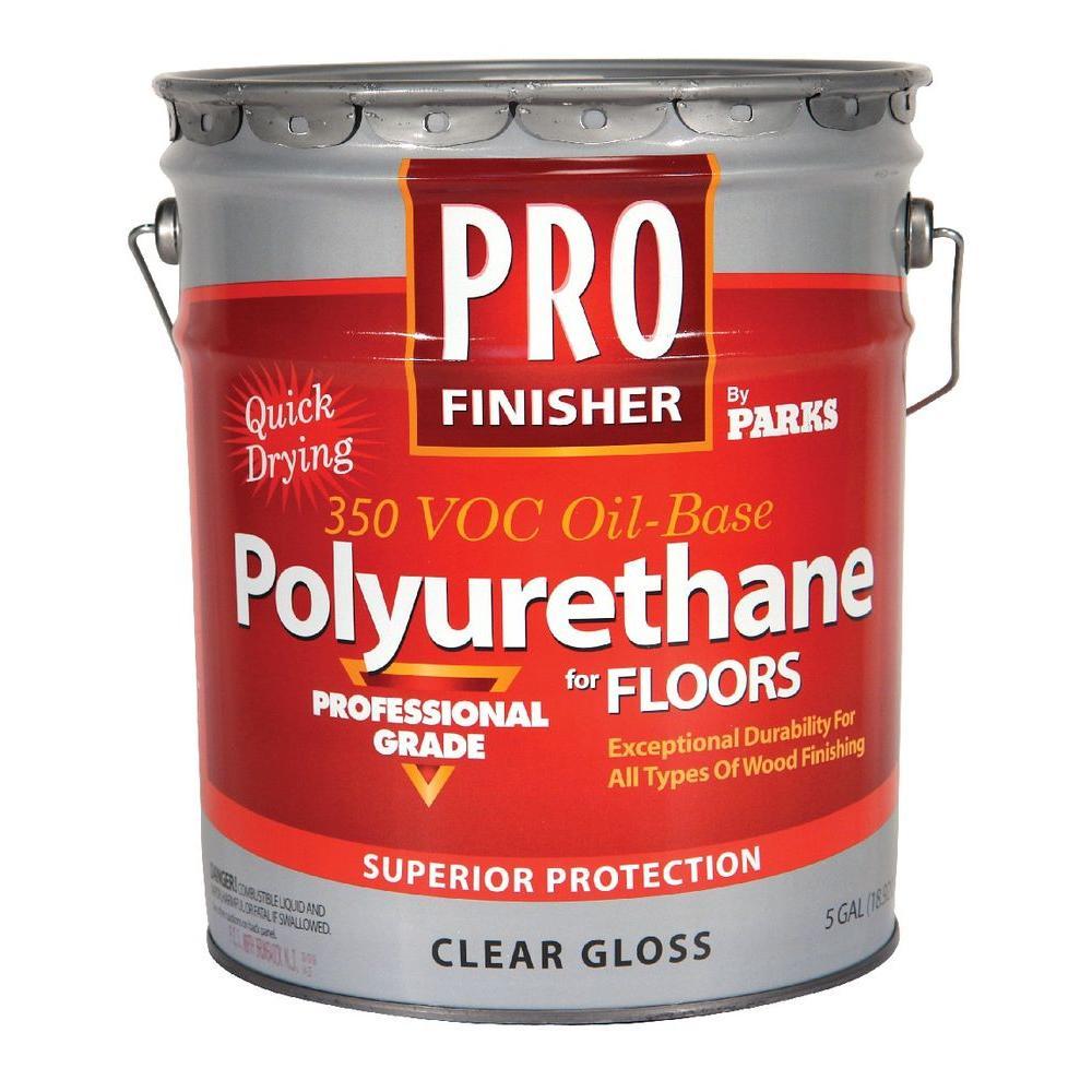 Pro Finisher 5 gal. Clear Gloss 350 VOC Oil-Based Interior Polyurethane for Floors