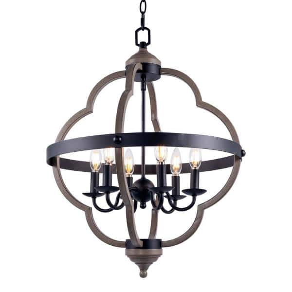 Byblight 6 Light Black Candle Style Geometric Chandelier Xch Lp11888301 The Home Depot