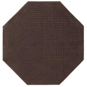 Vista Chocolate 4 ft. x 4 ft. Octagon Area Rug