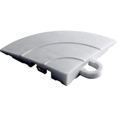 4.5 in. x 2.75 in. Pearl Silver Polypropylene Corner Edging for Diamondtrax Home Modular Flooring (4-Pack)