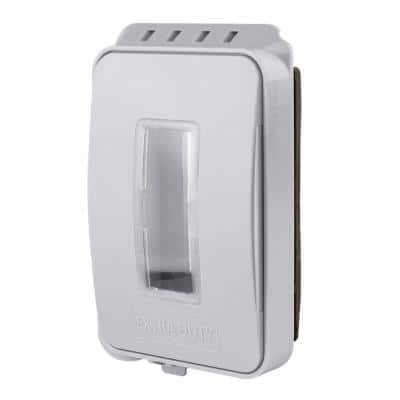 1-Gang Extra Duty Non-Metallic Low Profile While-In-Use Weatherproof Cover Horizontal/Vertical Receptacle Cover, White