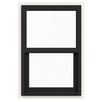 24 in. x 36 in. V-4500 Series Bronze FiniShield Single-Hung Vinyl Window with Fiberglass Mesh Screen