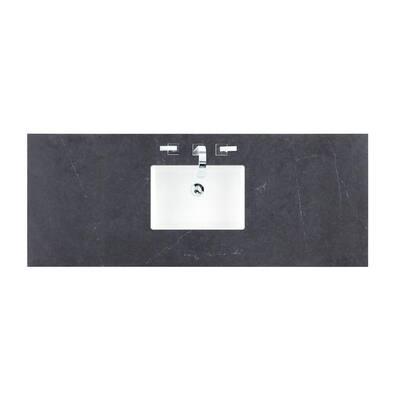 60 in. Silestone Quartz with Single Basin Vanity Top in Charcoal Soapstone