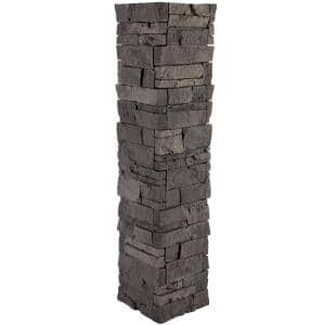 Stacked Stone 1.5 in. x 11.25 in. Iron Ore Faux Pillar Panel Siding