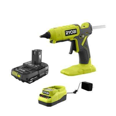 ONE+ 18V Cordless Dual Temperature Glue Gun with 2.0 Ah Battery and Charger