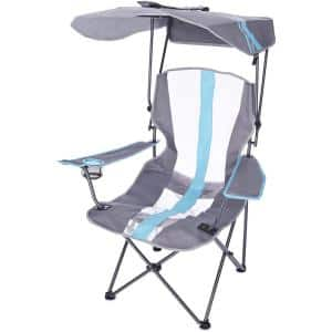 Premium Portable Camping Folding Lawn Chair with Canopy, Blue : 80185