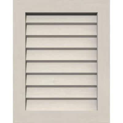 """19"""" x 23"""" Rectangular Primed Smooth Pine Wood Paintable Gable Louver Vent Non-Functional"""