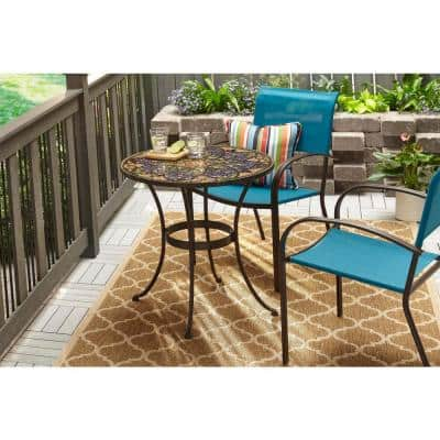 Mix and Match Stackable Sling Outdoor Dining Chair in Emerald Coast