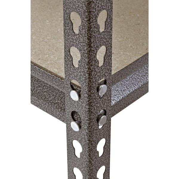 "Muscle Rack Silver-Vein 12/"" D x 30/"" W x 60/"" H 5-Shelves Steel Shelving Unit"