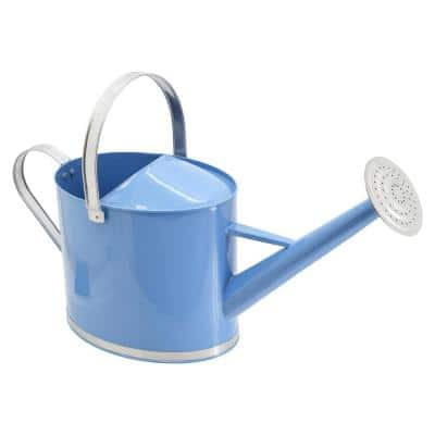 Chic 1.8 Gal. Sky Blue Metal Watering Can