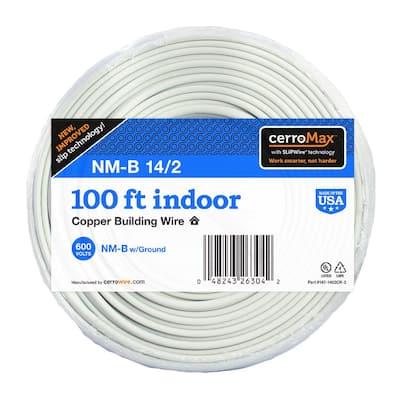 100 ft. 14/2 White Solid CerroMax SLiPWire CU NM-B Wire